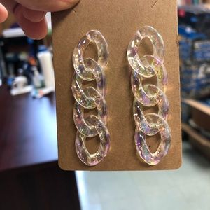 🔸2 for 🔸$20 clear colored post earring.